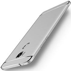 Coque Bumper Luxe Metal et Plastique Etui Housse M01 pour Huawei Honor Play 5X Argent
