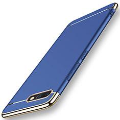 Coque Bumper Luxe Metal et Plastique Etui Housse M01 pour Huawei Honor V10 Bleu