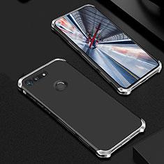 Coque Bumper Luxe Metal et Plastique Etui Housse M01 pour Huawei Honor V20 Argent