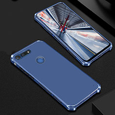 Coque Bumper Luxe Metal et Plastique Etui Housse M01 pour Huawei Honor V20 Bleu