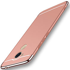Coque Bumper Luxe Metal et Plastique Etui Housse M01 pour Huawei Honor V9 Play Or Rose