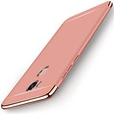 Coque Bumper Luxe Metal et Plastique Etui Housse M01 pour Huawei Honor X5 Or Rose