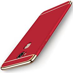 Coque Bumper Luxe Metal et Plastique Etui Housse M01 pour Huawei Honor X5 Rouge