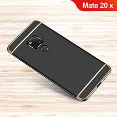 Coque Bumper Luxe Metal et Plastique Etui Housse M01 pour Huawei Mate 20 X Noir