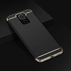 Coque Bumper Luxe Metal et Plastique Etui Housse M01 pour Huawei Mate 30 Lite Noir