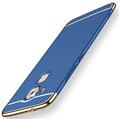 Coque Bumper Luxe Metal et Plastique Etui Housse M01 pour Huawei Mate 7 Bleu