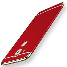 Coque Bumper Luxe Metal et Plastique Etui Housse M01 pour Huawei Mate 7 Rouge