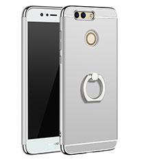Coque Bumper Luxe Metal et Plastique Etui Housse M01 pour Huawei Nova 2 Plus Argent
