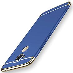 Coque Bumper Luxe Metal et Plastique Etui Housse M01 pour Huawei Nova Smart Bleu