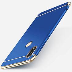 Coque Bumper Luxe Metal et Plastique Etui Housse M01 pour Huawei P Smart (2019) Bleu