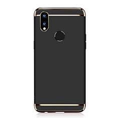 Coque Bumper Luxe Metal et Plastique Etui Housse M01 pour Huawei P Smart+ Plus Noir