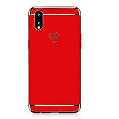 Coque Bumper Luxe Metal et Plastique Etui Housse M01 pour Huawei P Smart+ Plus Rouge