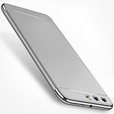 Coque Bumper Luxe Metal et Plastique Etui Housse M01 pour Huawei P10 Plus Argent
