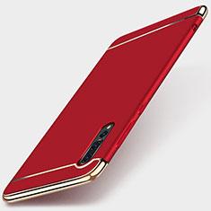 Coque Bumper Luxe Metal et Plastique Etui Housse M01 pour Huawei P20 Pro Rouge