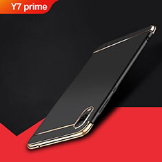 Coque Bumper Luxe Metal et Plastique Etui Housse M01 pour Huawei Y7 Prime (2019) Noir