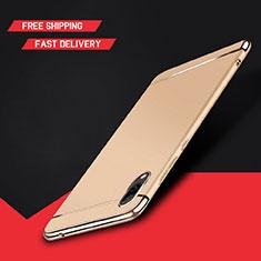 Coque Bumper Luxe Metal et Plastique Etui Housse M01 pour Huawei Y7 Prime (2019) Or