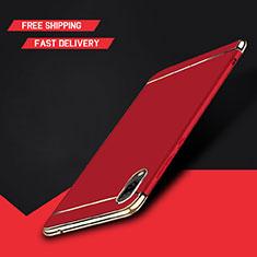 Coque Bumper Luxe Metal et Plastique Etui Housse M01 pour Huawei Y7 Prime (2019) Rouge