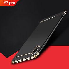 Coque Bumper Luxe Metal et Plastique Etui Housse M01 pour Huawei Y7 Pro (2019) Noir