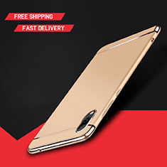 Coque Bumper Luxe Metal et Plastique Etui Housse M01 pour Huawei Y7 Pro (2019) Or