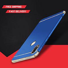 Coque Bumper Luxe Metal et Plastique Etui Housse M01 pour Huawei Y9 (2019) Bleu