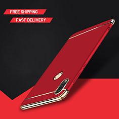 Coque Bumper Luxe Metal et Plastique Etui Housse M01 pour Huawei Y9 (2019) Rouge