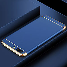 Coque Bumper Luxe Metal et Plastique Etui Housse M01 pour OnePlus 5T A5010 Bleu