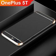 Coque Bumper Luxe Metal et Plastique Etui Housse M01 pour OnePlus 5T A5010 Noir