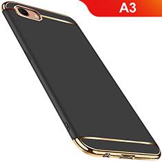Coque Bumper Luxe Metal et Plastique Etui Housse M01 pour Oppo A3 Noir
