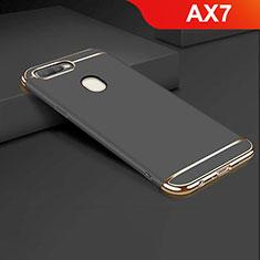 Coque Bumper Luxe Metal et Plastique Etui Housse M01 pour Oppo AX7 Noir