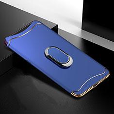 Coque Bumper Luxe Metal et Plastique Etui Housse M01 pour Oppo Find X Bleu