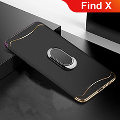 Coque Bumper Luxe Metal et Plastique Etui Housse M01 pour Oppo Find X Noir