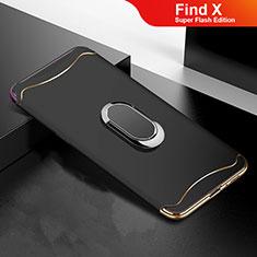 Coque Bumper Luxe Metal et Plastique Etui Housse M01 pour Oppo Find X Super Flash Edition Noir