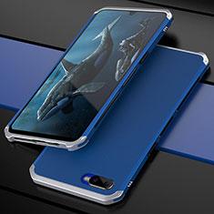 Coque Bumper Luxe Metal et Plastique Etui Housse M01 pour Oppo K1 Bleu Ciel