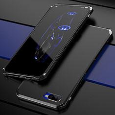 Coque Bumper Luxe Metal et Plastique Etui Housse M01 pour Oppo R17 Neo Noir