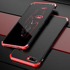 Coque Bumper Luxe Metal et Plastique Etui Housse M01 pour Oppo R17 Neo Rouge et Noir