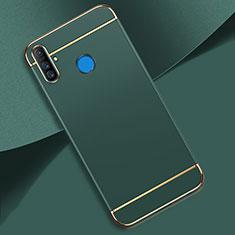 Coque Bumper Luxe Metal et Plastique Etui Housse M01 pour Realme C3 Vert