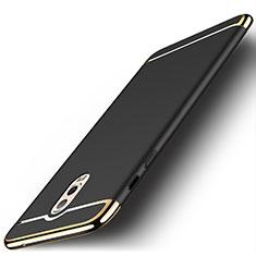 Coque Bumper Luxe Metal et Plastique Etui Housse M01 pour Samsung Galaxy C7 (2017) Noir