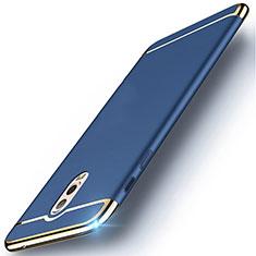 Coque Bumper Luxe Metal et Plastique Etui Housse M01 pour Samsung Galaxy C8 C710F Bleu