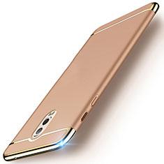 Coque Bumper Luxe Metal et Plastique Etui Housse M01 pour Samsung Galaxy J7 Plus Or
