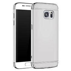Coque Bumper Luxe Metal et Plastique Etui Housse M01 pour Samsung Galaxy S7 G930F G930FD Argent