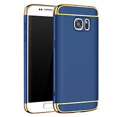 Coque Bumper Luxe Metal et Plastique Etui Housse M01 pour Samsung Galaxy S7 G930F G930FD Bleu