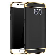 Coque Bumper Luxe Metal et Plastique Etui Housse M01 pour Samsung Galaxy S7 G930F G930FD Noir