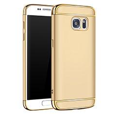 Coque Bumper Luxe Metal et Plastique Etui Housse M01 pour Samsung Galaxy S7 G930F G930FD Or