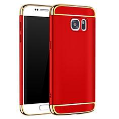 Coque Bumper Luxe Metal et Plastique Etui Housse M01 pour Samsung Galaxy S7 G930F G930FD Rouge