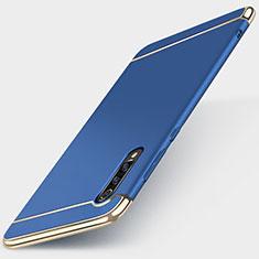 Coque Bumper Luxe Metal et Plastique Etui Housse M01 pour Xiaomi Mi 9 Bleu