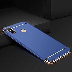 Coque Bumper Luxe Metal et Plastique Etui Housse M01 pour Xiaomi Mi Max 3 Bleu