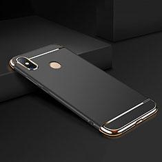 Coque Bumper Luxe Metal et Plastique Etui Housse M01 pour Xiaomi Mi Max 3 Noir