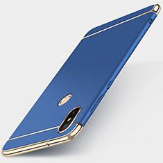 Coque Bumper Luxe Metal et Plastique Etui Housse M01 pour Xiaomi Redmi 6 Pro Bleu