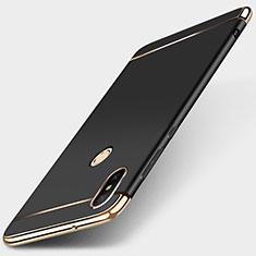 Coque Bumper Luxe Metal et Plastique Etui Housse M01 pour Xiaomi Redmi 6 Pro Noir