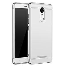 Coque Bumper Luxe Metal et Plastique Etui Housse M01 pour Xiaomi Redmi Note 3 MediaTek Argent